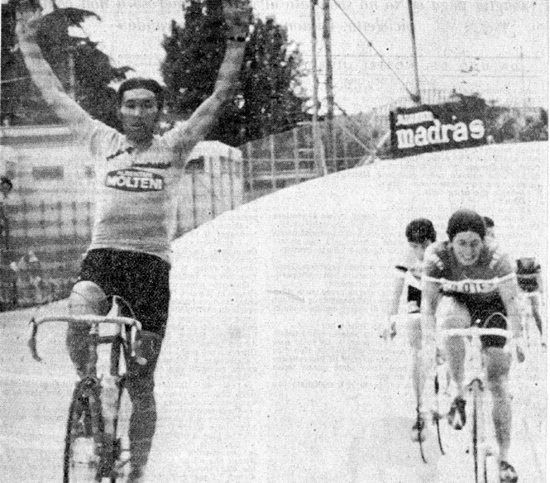 Merckx wins stage 21 of the 1974 Giro