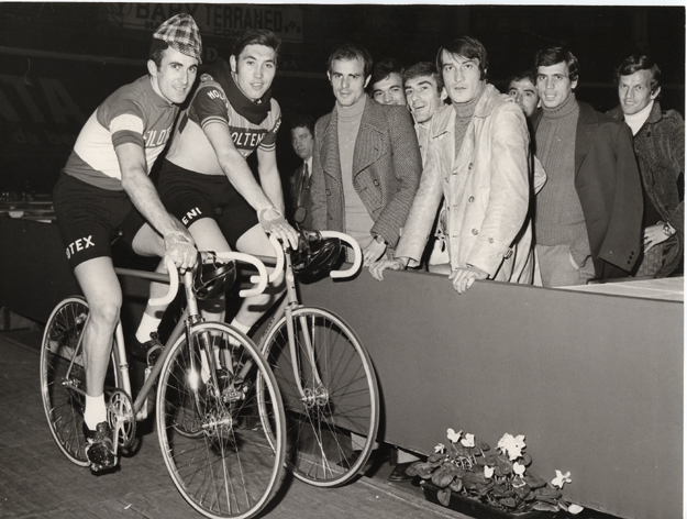 Eddy MErckx and Franco Bitossi in the 1971 Milano 6-day.