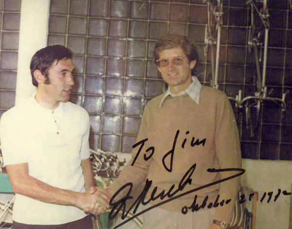 Eddy Merckx and James Lockwood