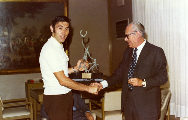 Eddy Merckx with Egon Hessel