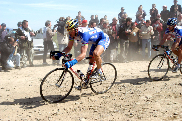 Johan Museeuw in the 2003 Paris-Roubaix