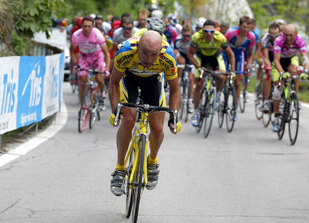 Marco Pantani on the attack in the 2003 Giro d'Italia