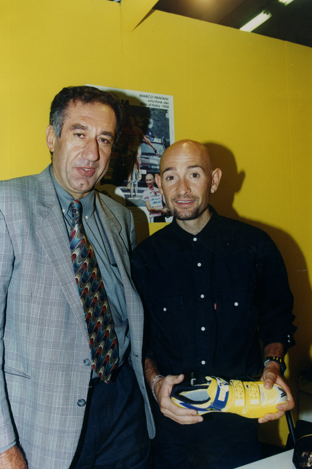 Marco Pantani and Celstino Vercelli