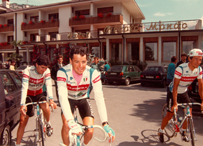 Roche at stage 18 of the 1987 giro d'Italia