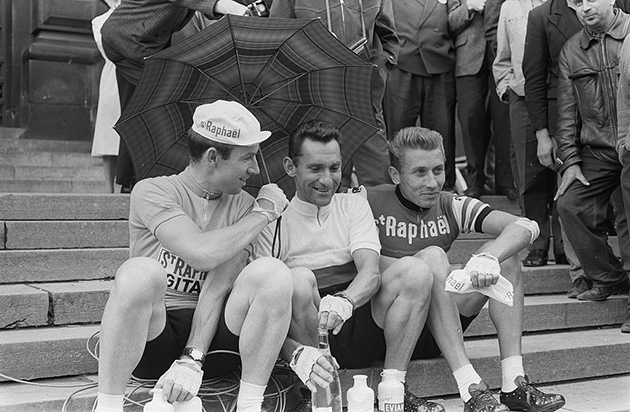 Seamus Elliot, Jean Stablinski and Jacques Anquetil