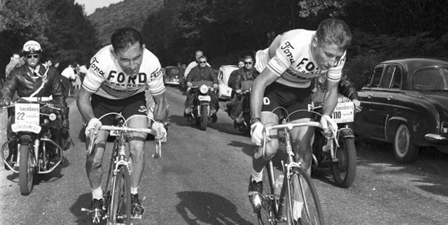 Jacques Anquetil and Jean Stablinski
