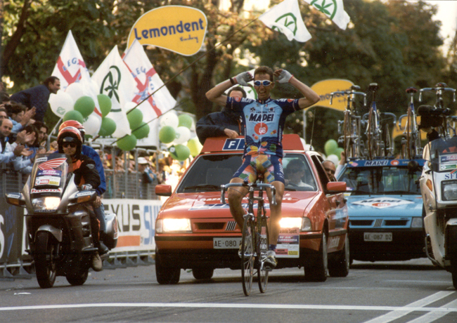 Andrea Tafi wins the 1996 Giro di Lombardia
