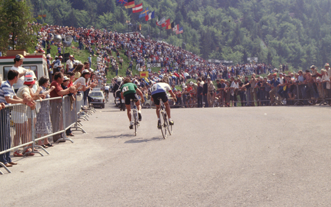 3bd37aa1d Lucien van Impe riding stage 18 of the 1982 Giuro d Italia