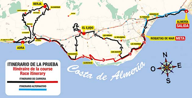 Almeria race map