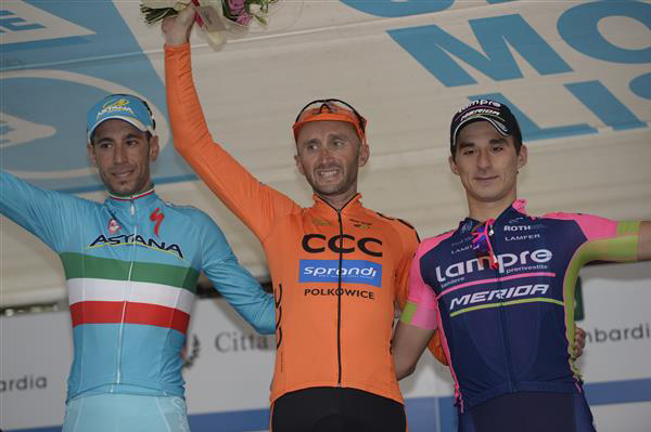 2015 Coppa Agostoni podium