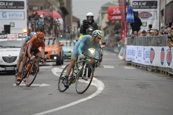 Michele Scarponi, Davide Rebellin and Vincenzo Nibali