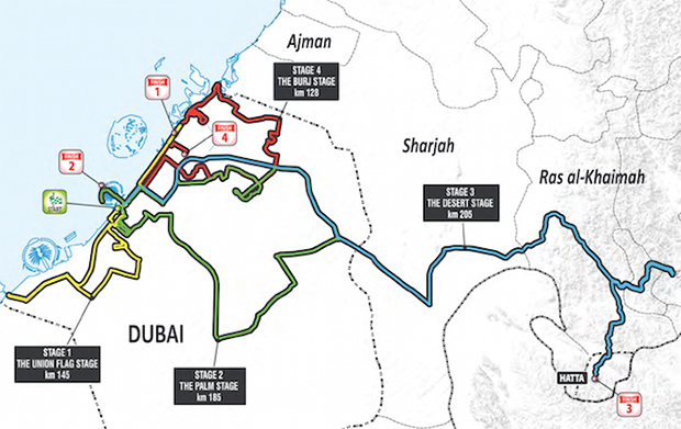 2015 Dubai Tour map