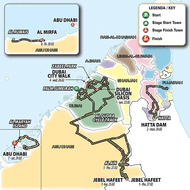 UAE Tour overall map