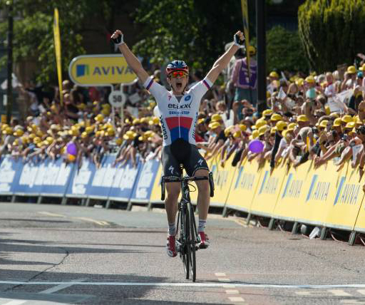 Petr Vakoc wins Tour of Britain stage 2
