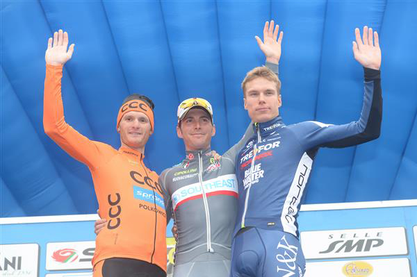 Stage 1a podium