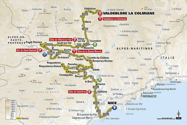 Paris-Nice stage 7 map