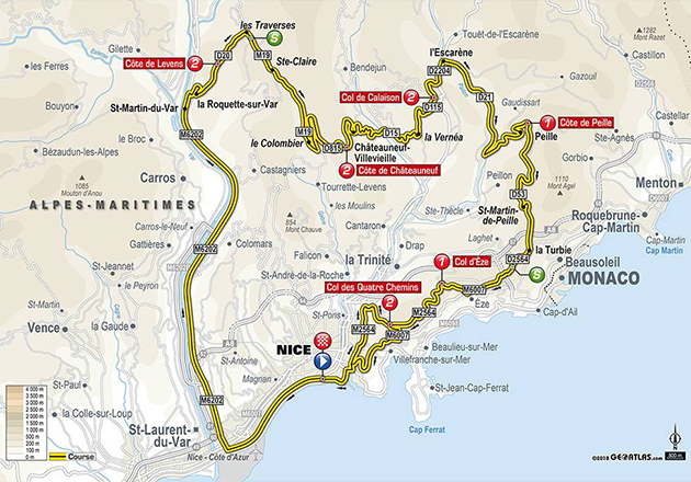 PAris-Nice stage 8 map