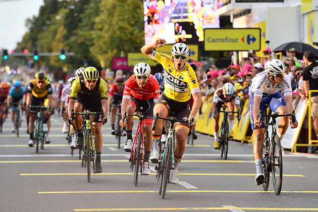 Pascal Ackermann wins stage two