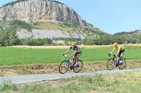 Alberto Contador and Christopher Froome