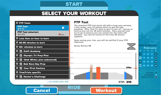 Using Zwift to improve your Functional Threshold Power