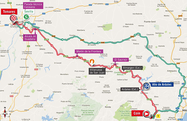 Vuelta stage 13 map