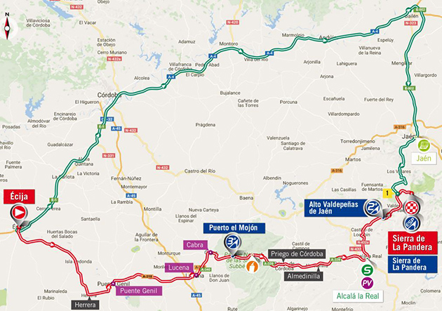 Vuelta stage 14 map