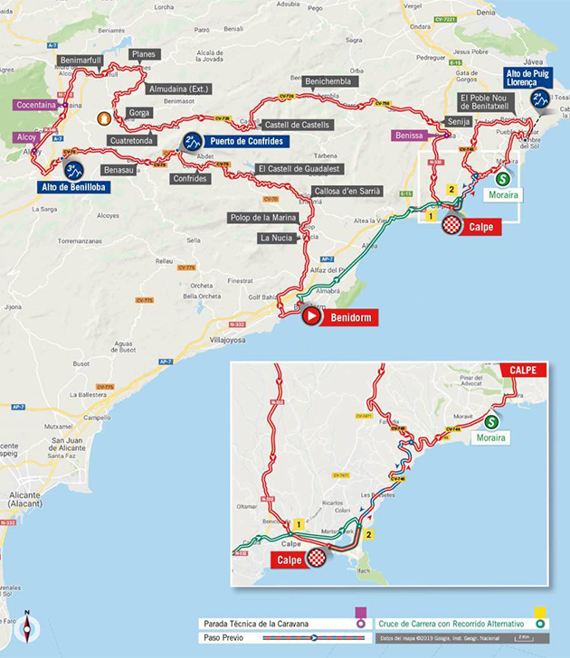 Vuelta stage 2 map