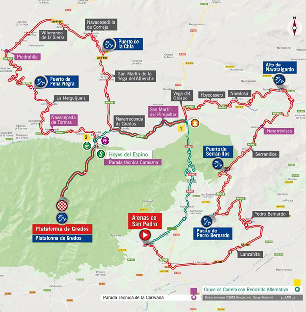 Vuelta stage 20 map