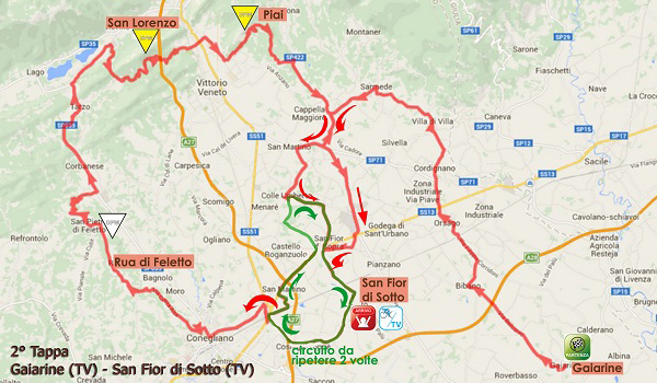 Giro Rosa Stage 2 map