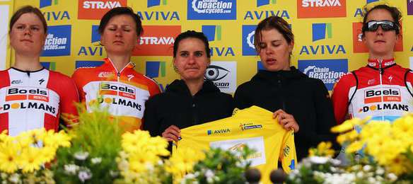 Boels-Dolmans accepted the prize for injured Armistead