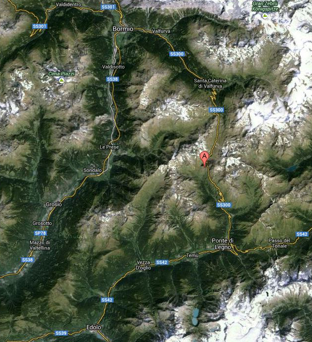 Map of the Gavia Pass