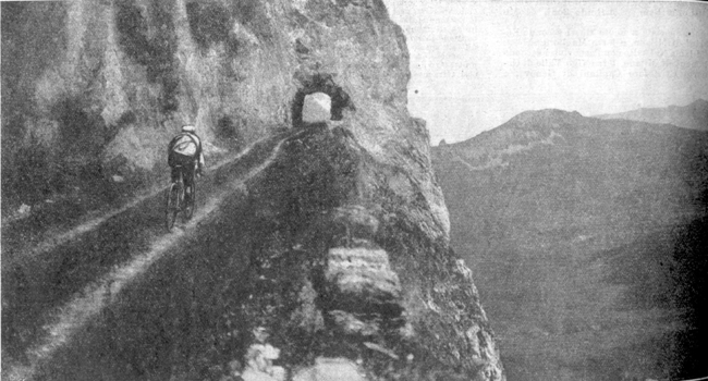 Gustave Garrigou on the Aubisque in the 1911 Tour de France