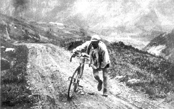 Lucien Buysse on the Tourmalet in the 1926 Tour de France