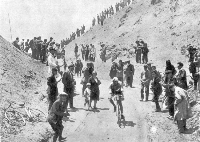 Antonin Magne on the Tourmalet in the 1930 Tour de France