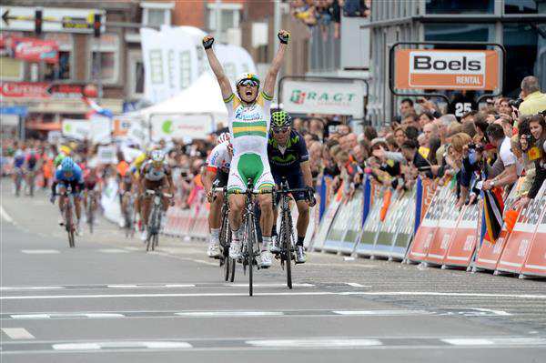 Simon Gerrans wins the 2014 Leige-Bastogne-Liege race
