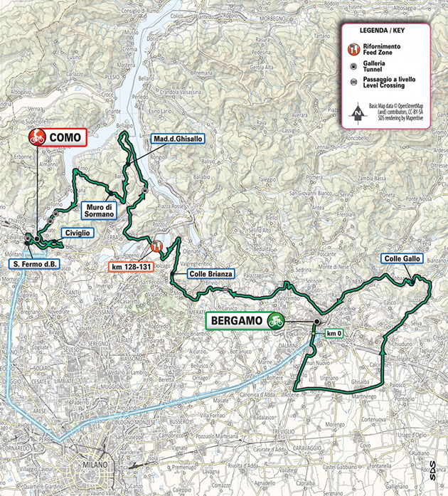 Tour of Lombardy revised route