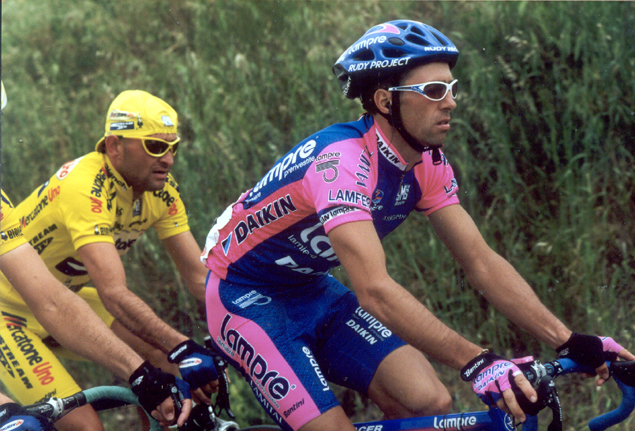 Gilberto Simoni and Marco Pantani