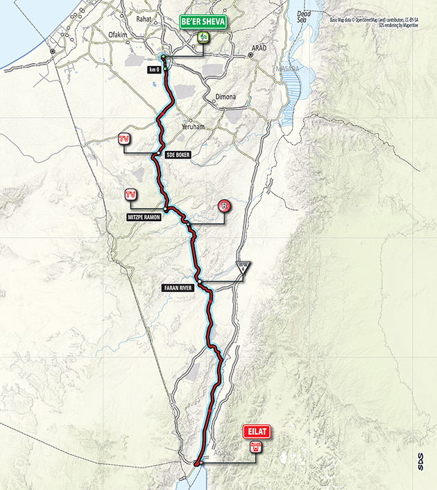 Giro stage 3 map