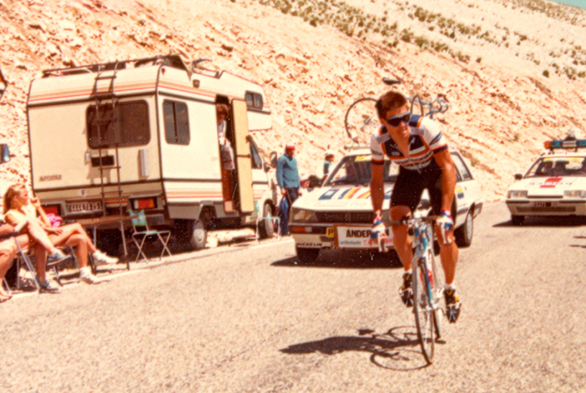Phil Anderson climbs Mt Ventoux in 1987