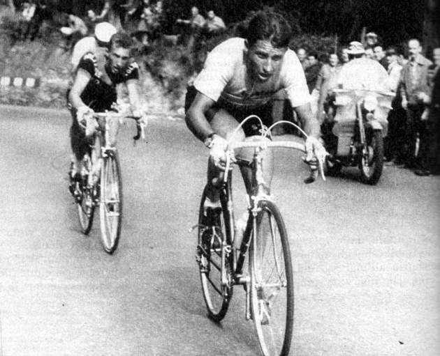 Jacques Anquetil and Gianni Motta in the 1964 Giro