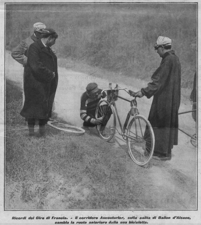 Hippolyte Aucutuier in the 1906 Tour de France
