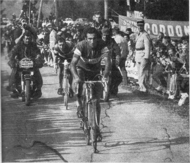Bistossi leads van Springel in the 1968 Tour de France
