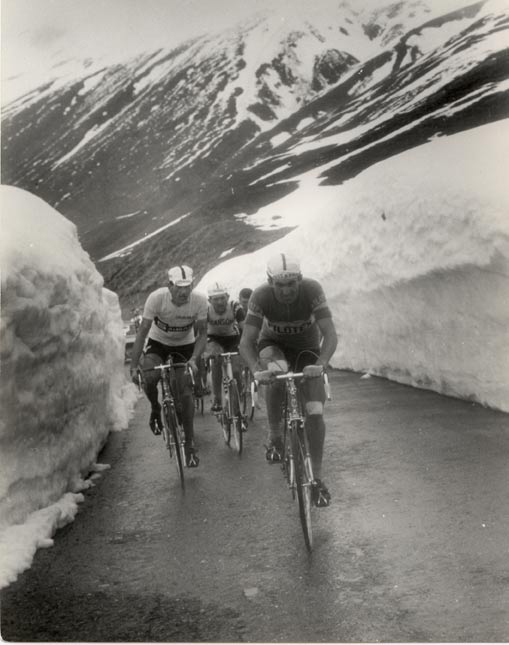 Frnaco Bitossi and Vittorio Adorni on the Stelvio