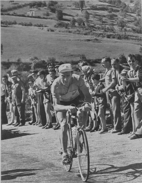 Bobet in the 20th stage of the Tour de France