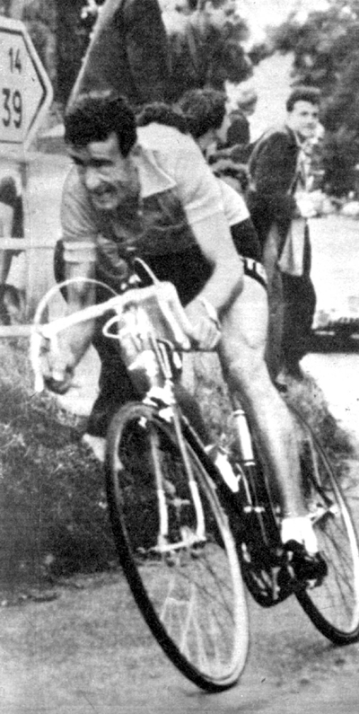 Bobet in stage 21b of the 1954 Tour de France