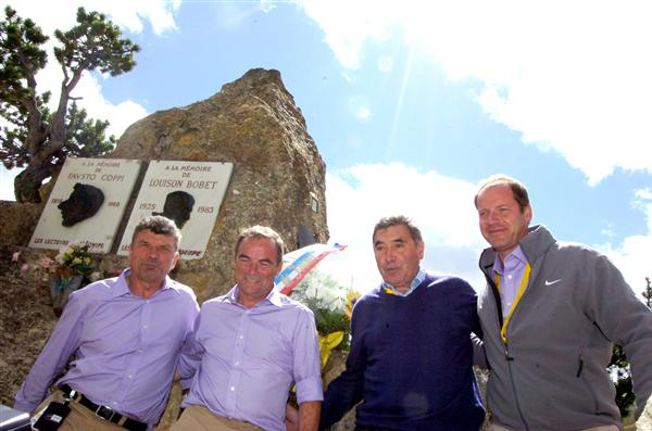 prudhomme at the coppi monument