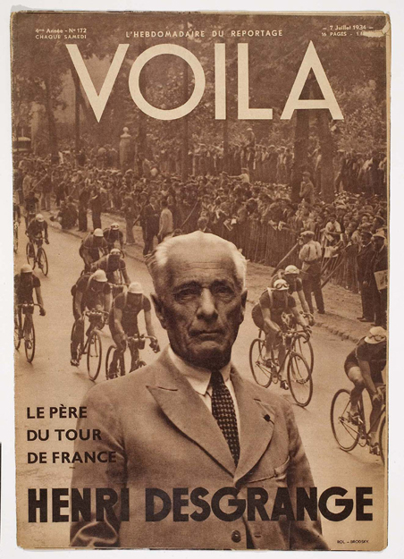 Desgrange n the cover of Voila magazine