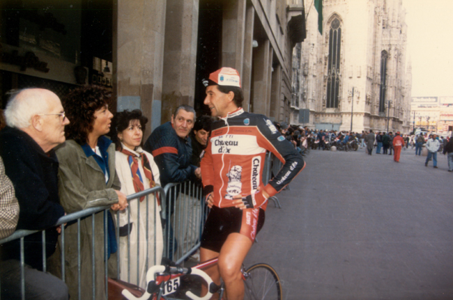 Gianni Bugno at the start of the 1988 Milano-San Remo