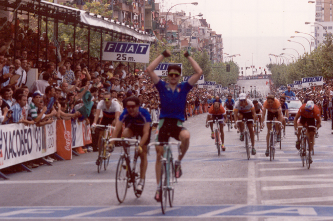 gianni Bugno wins the 1992 World Road Championships