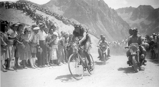 Fausto Coppi, Stage 12 of the 1949 Tour de France, on the Tourmalet